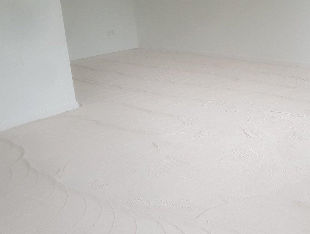 Anhydriet schuren vloer verwijderen wolter